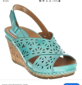 Earth leather wedges
